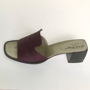 Robert Clergerie Shoes - ROBERT CLERGERIE Wine Satin Mules